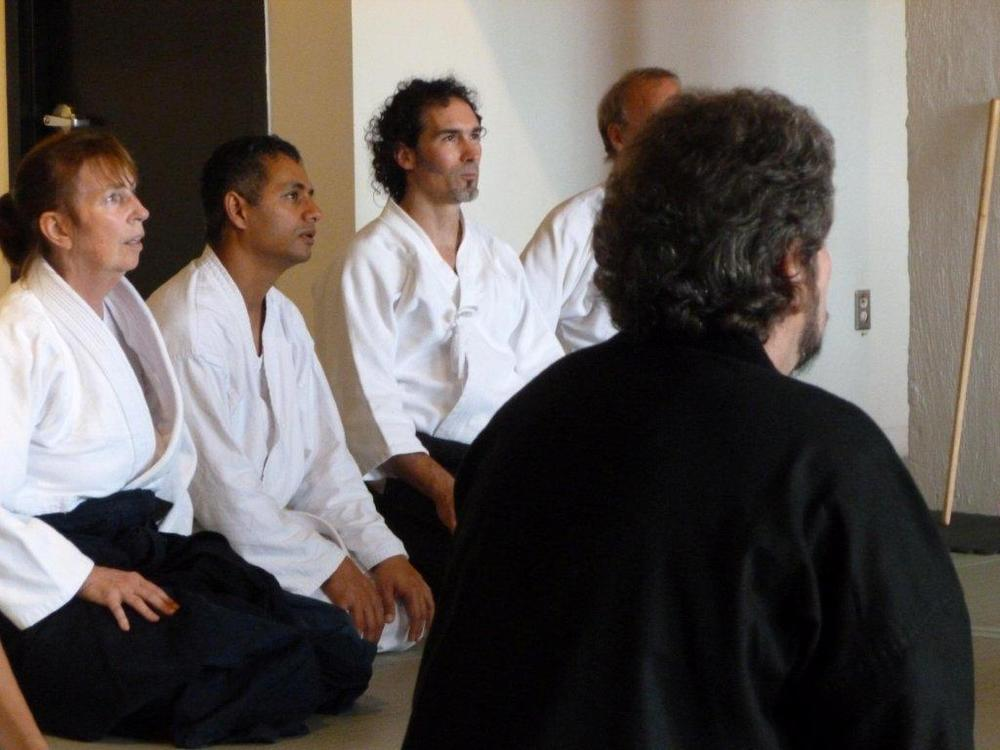 Sensei Rick Testa of City Aikido (middle).