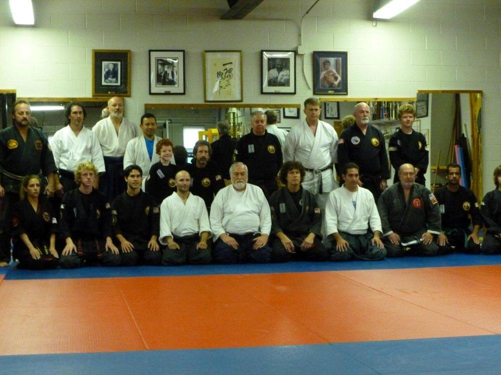 Group photo, seminar at Sensei Don Culp's dojo in Rhode Island.