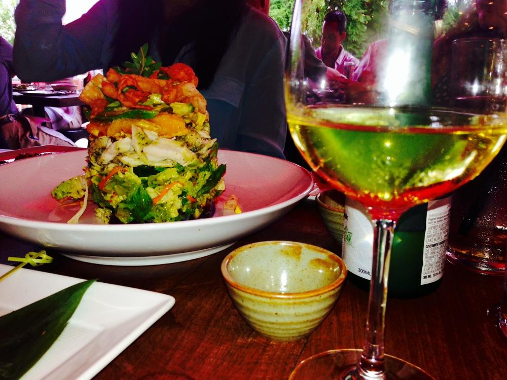 Asian Chicken Salad at Chino Chinatown