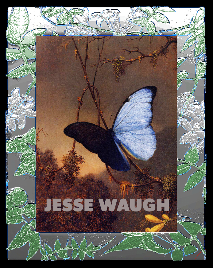 "Jesse Waugh ""Jasmine Frame"" 5X7 2012 Mixed metals, enamel and glass"