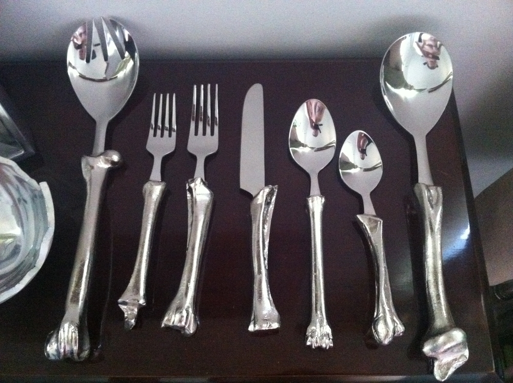 "Jesse Waugh ""Goat Bone Cutlery"" 2011 Stainless steel"