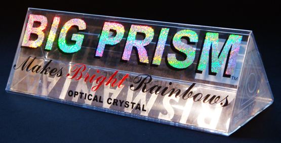 "Jesse Waug ""BIG PRISM"" 006 ptical crystal and packaging"