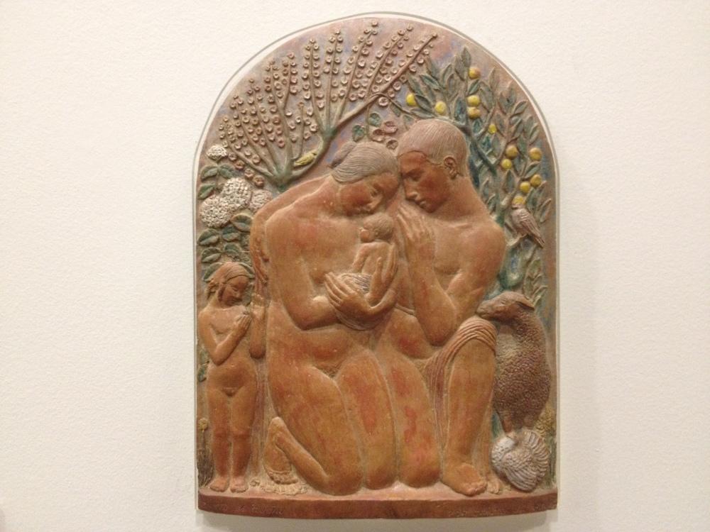 Ernesto Canto da Maya Canto da Ilusao c 1929  Polychrome terracotta