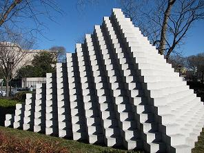 "Sol Lewitt ""Four-Sided Pyramid"" 1999 Concrete blocks"