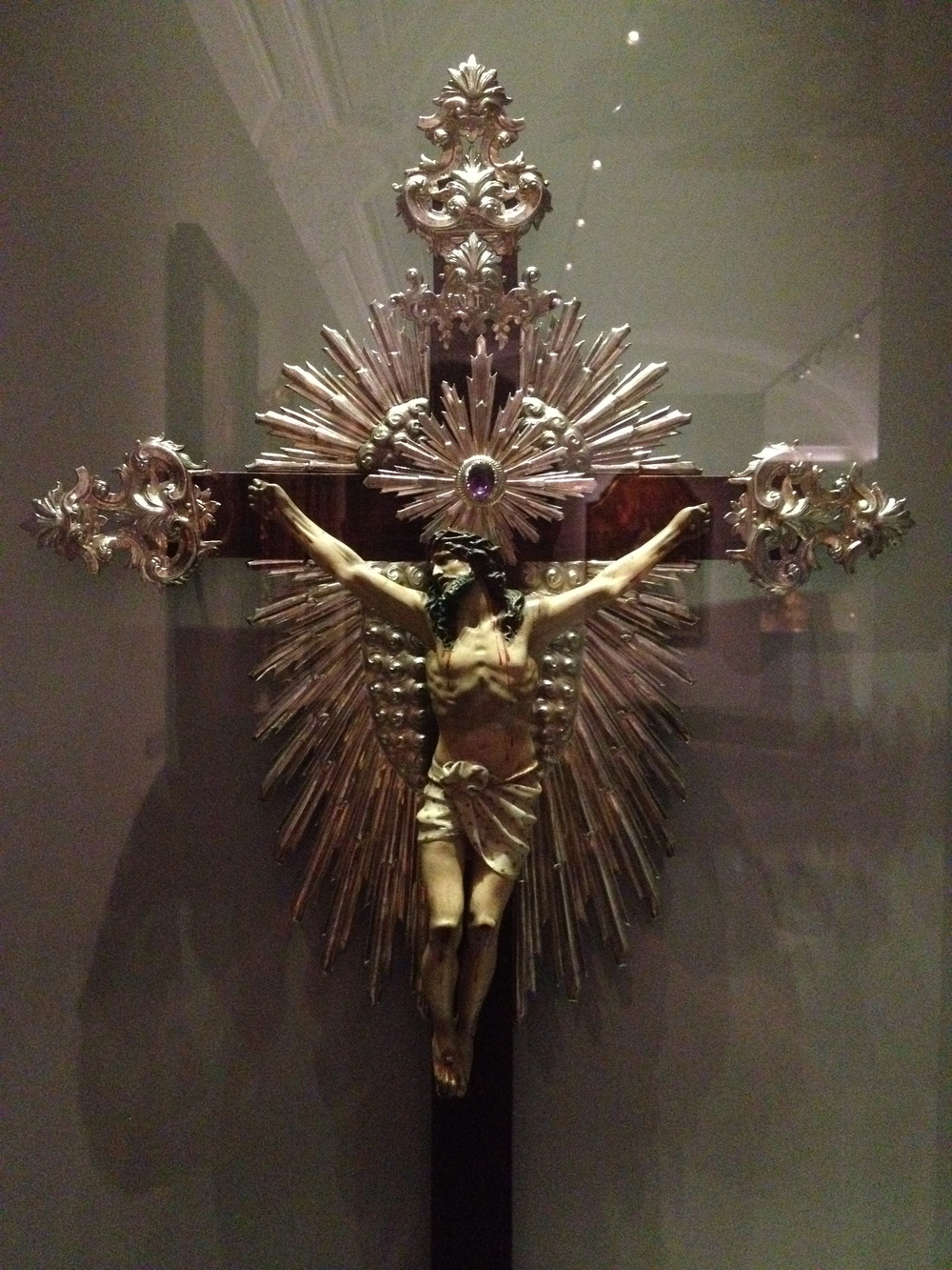 """Cristo Crucificado"" Portugal, 18th century Polychrome wood and silver"