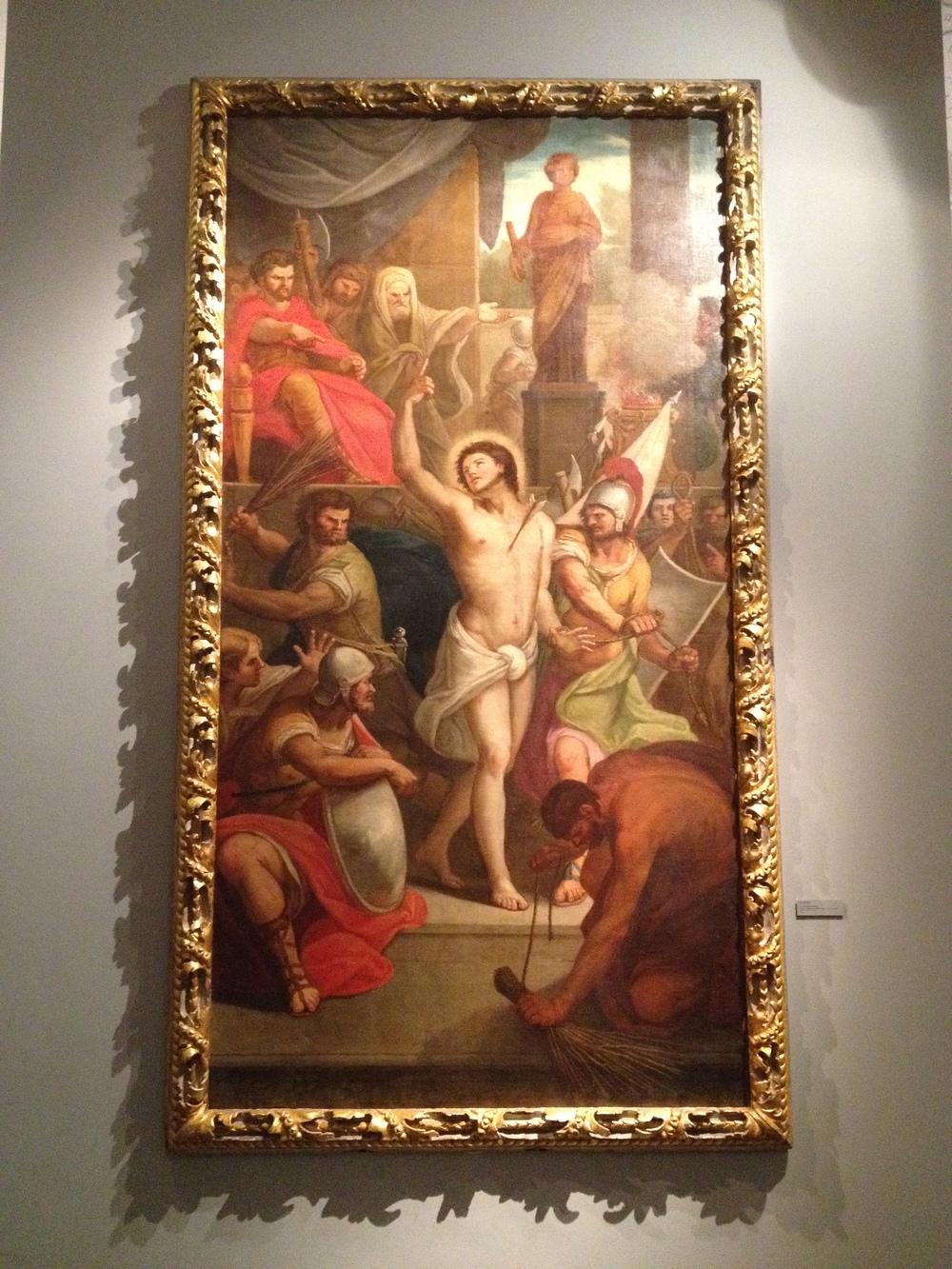 "Joaquim Manuel da Rocha ""Sao Sebastiao"" Portugal, 18th century Oil on canvas"