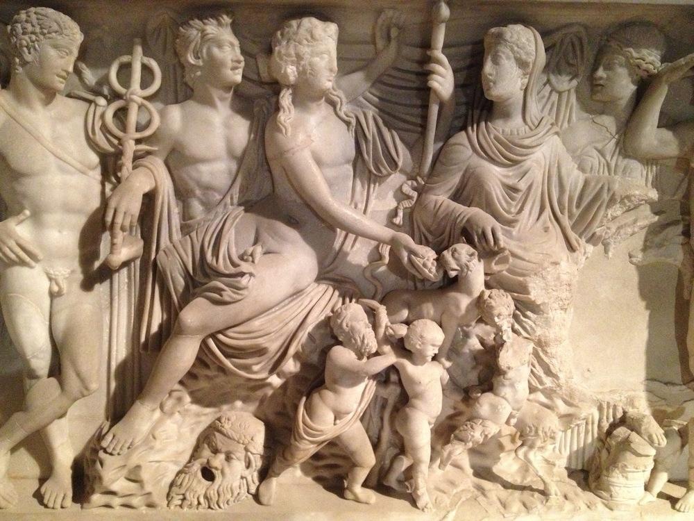 Sarcophagus hermaphrodite Diocletian Baths c 300 AD National Roman Museum