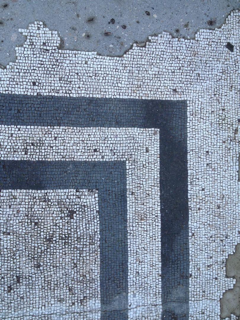 Hadrian's Villa White marble Roman floor Tivoli