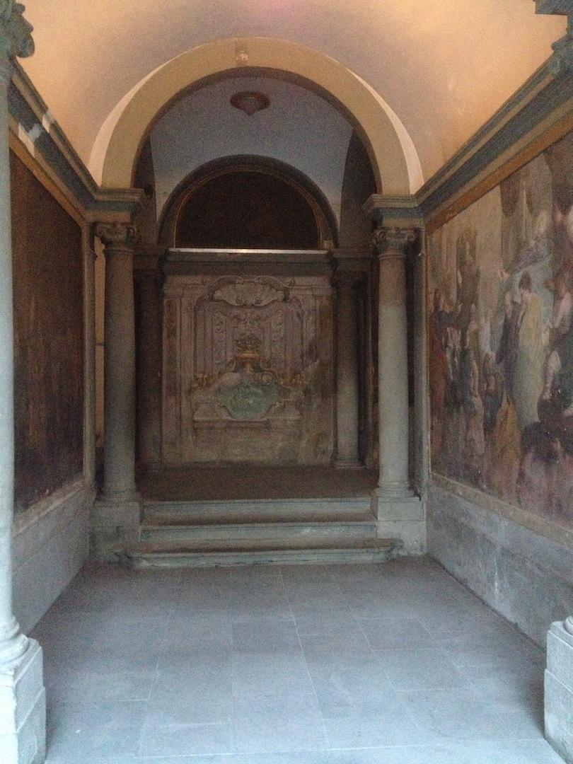 Amerigo Vespucci Hospital Back alcove frescos Ognisanti, Firenze, Italia