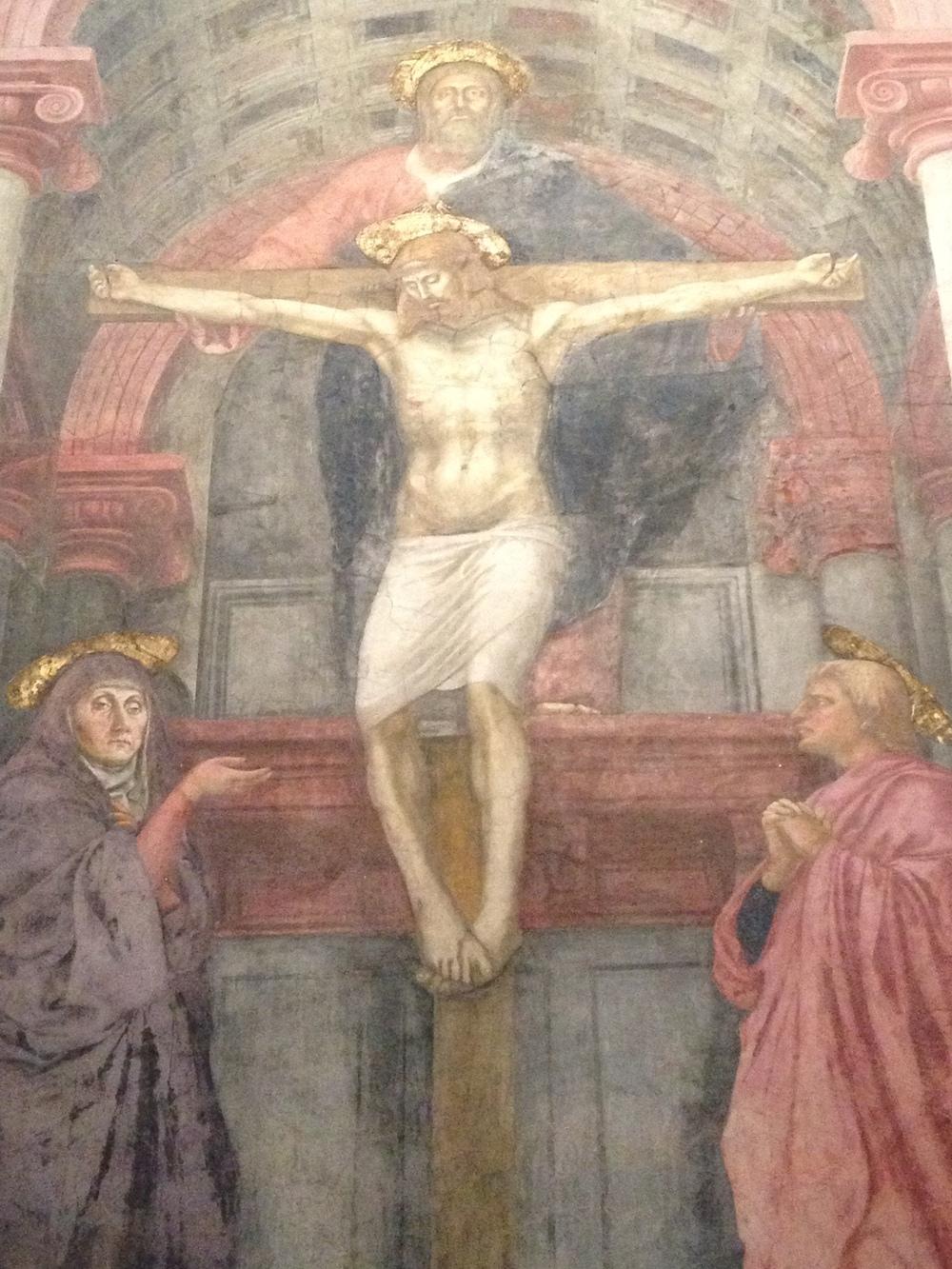 Masaccio Holy Trinity detail