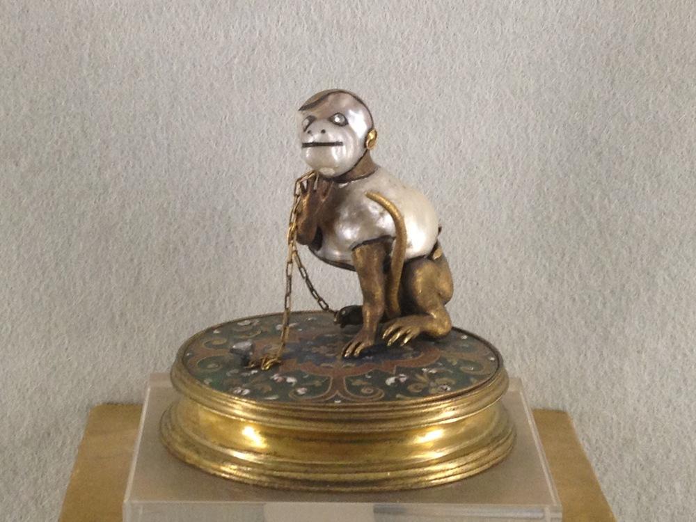 Anna Maria de'Medici Baroque Pearl Monkey c 17th century