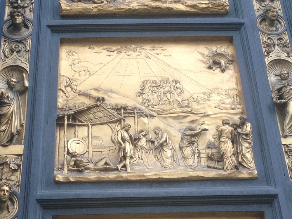 Noah's Ark / Pyramid Baptistry Door panel Lorenzo Ghiberti 1401 Florence, Italy