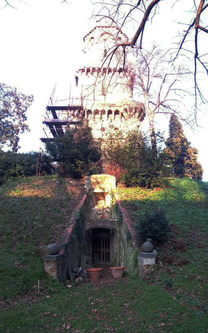 Torrigiani Gardens Tower of Athanor Entrance to the Oven Florence, Italy