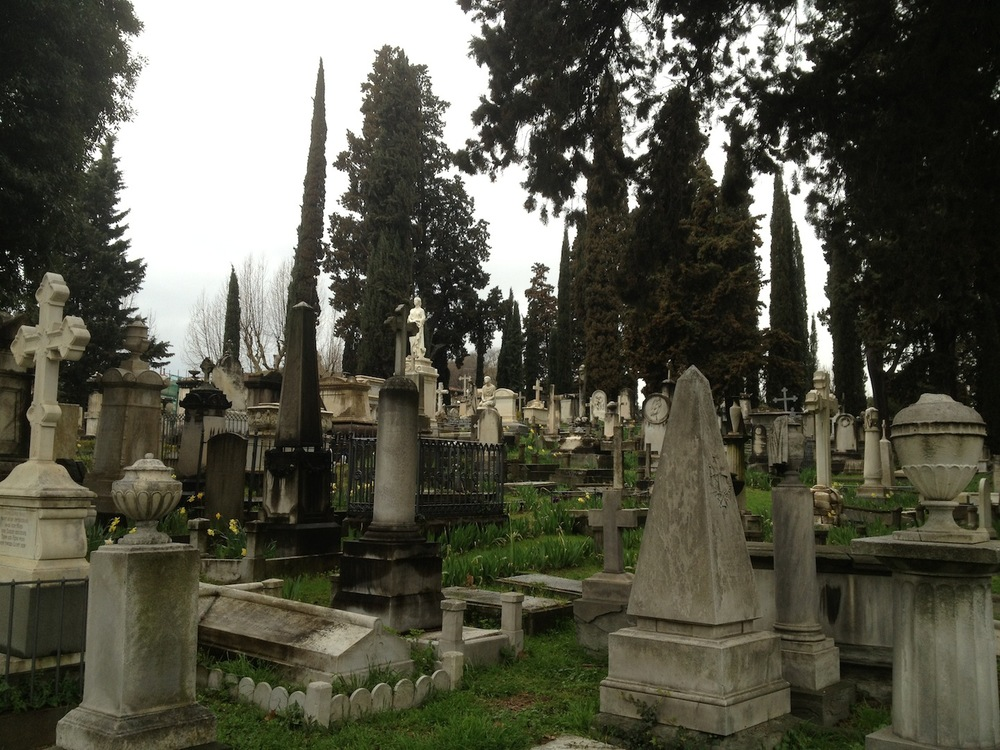 The English Cemetery at Florence  Cimitero Inglese - Firenze Piazzale Donatello