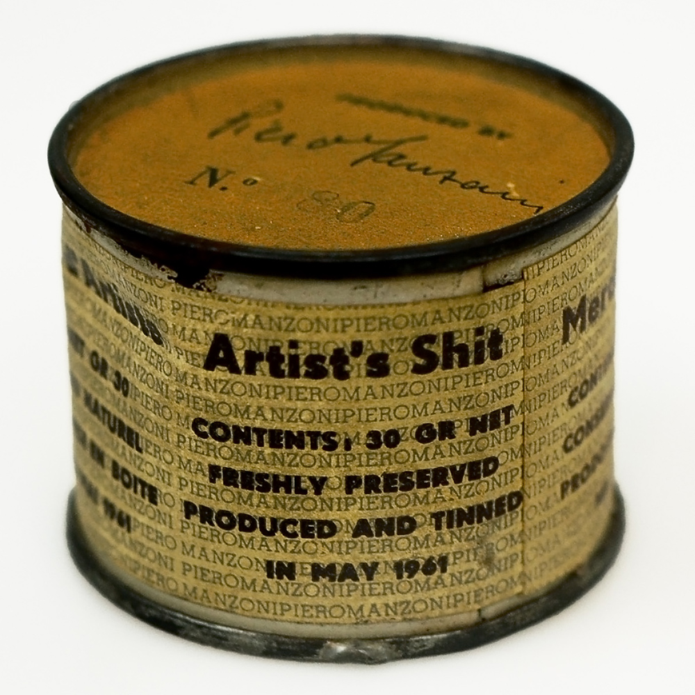 Piero Manzoni Artists' Shit (Merda d'artista) 1961 Feces in a can