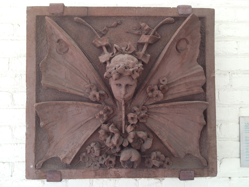 Butterfly Child  Mulcaster Plaque 1885 Terracotta