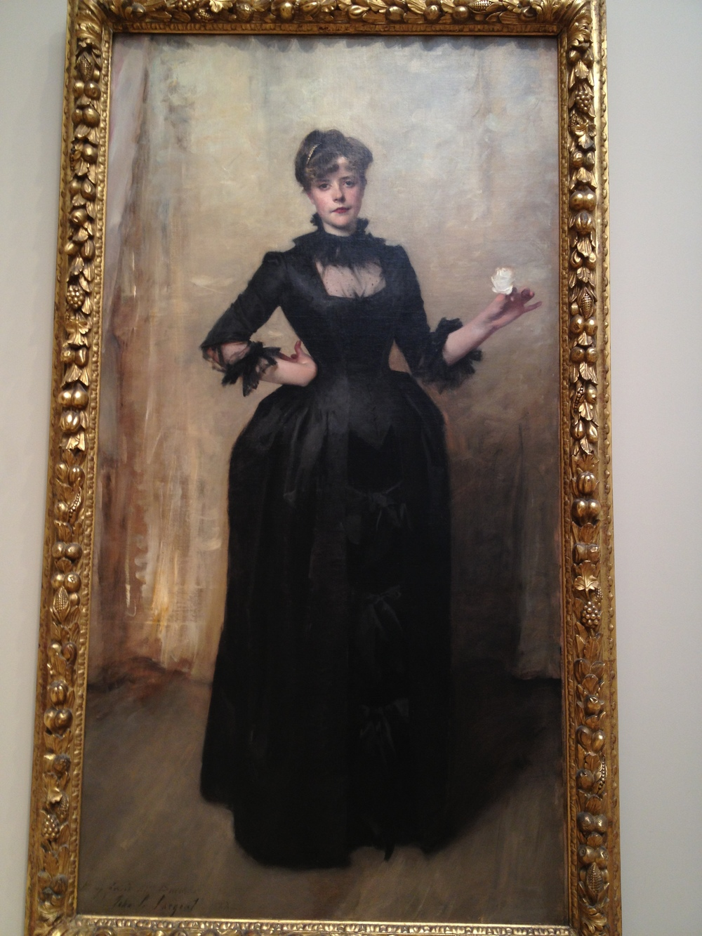 Lady with the Rose (Charlotte Louise Burckhardt) John Singer Sargent 1882 Oil on canvas