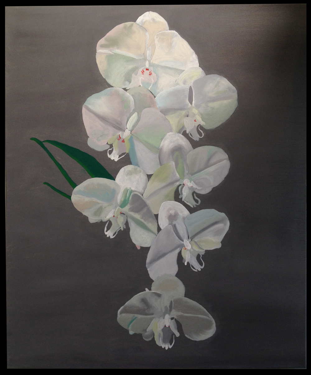 Jesse Waugh   Cascading Orchids   2013 Oil on canvas