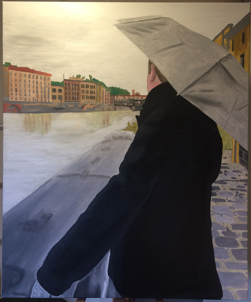 Jesse Waugh   Rain at the Arno   2014 Oil on canvas