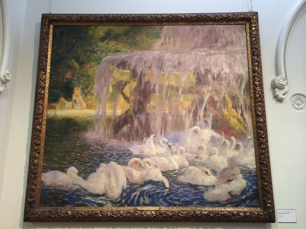 Gaston-La-Touche-Swans-At-Play-1909-jessewaugh.com