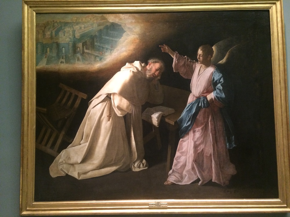 Francisco de Zurbaran The Vision of Saint Peter Nolasco 1629 Oil on canvas. Signed