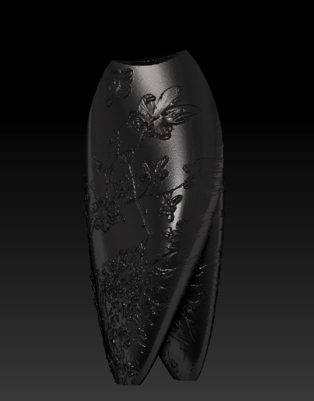 Jesse Waugh   Magnolia Vase   2015 3D Design and Print