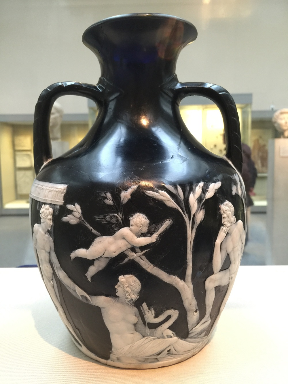 The Portland Vase   at the British Museum