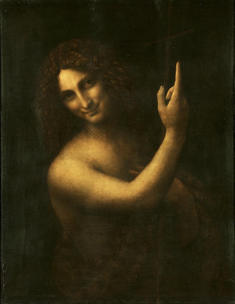 St. John The Baptist by Leonardo da Vinci - for which da Vinci's male lover Salai was obviously the model