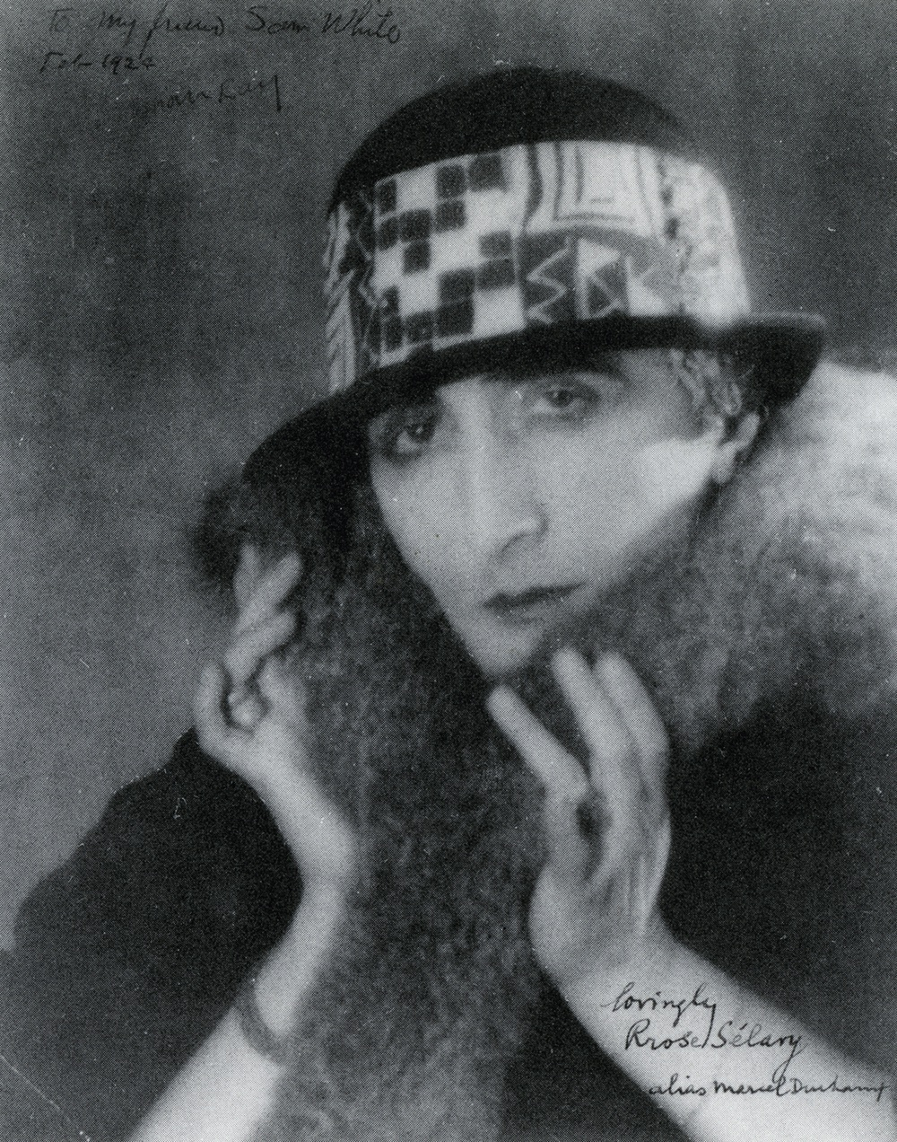 Marcel Duchamp in drag as Rrose Selavy