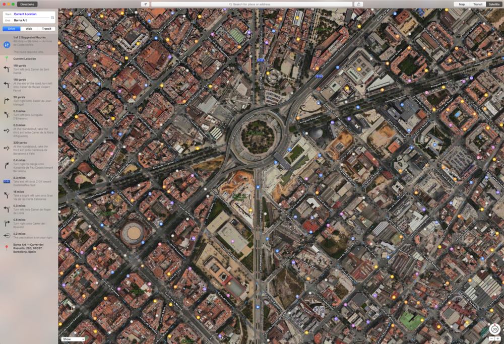 Barcelona Giant Eye Street Map