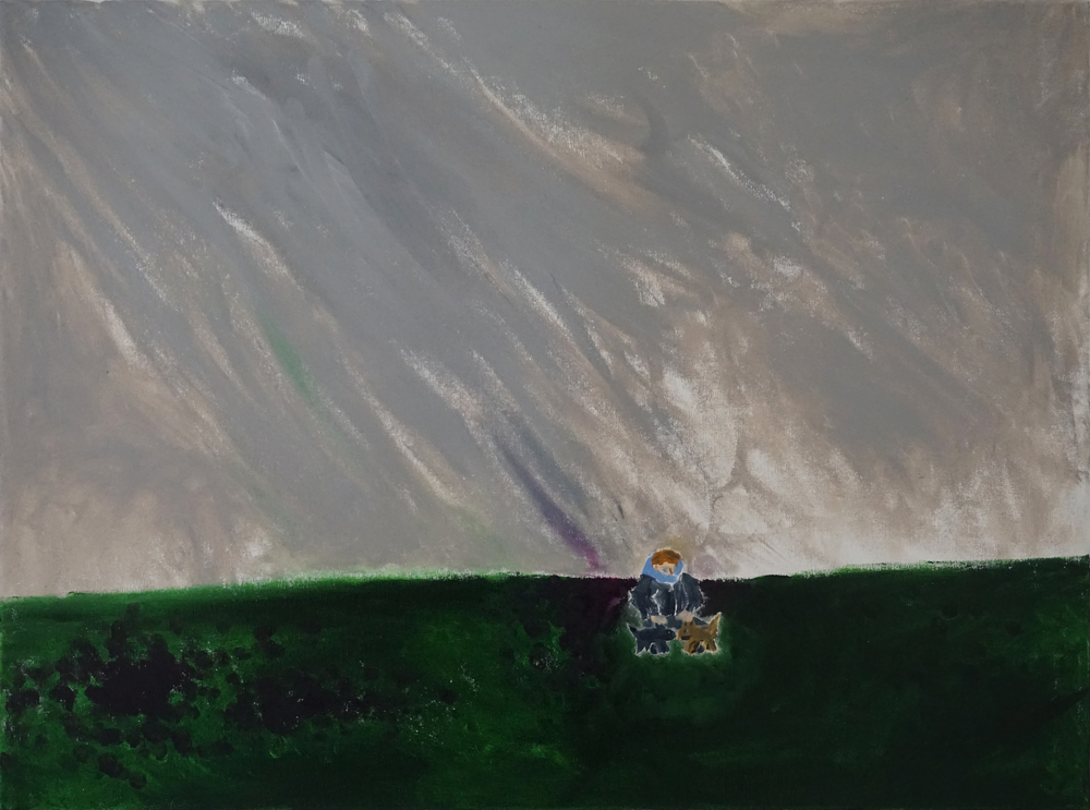 JESSE WAUGH   HAILSTORM ON POMPY HILL   2016 OIL ON CANVAS