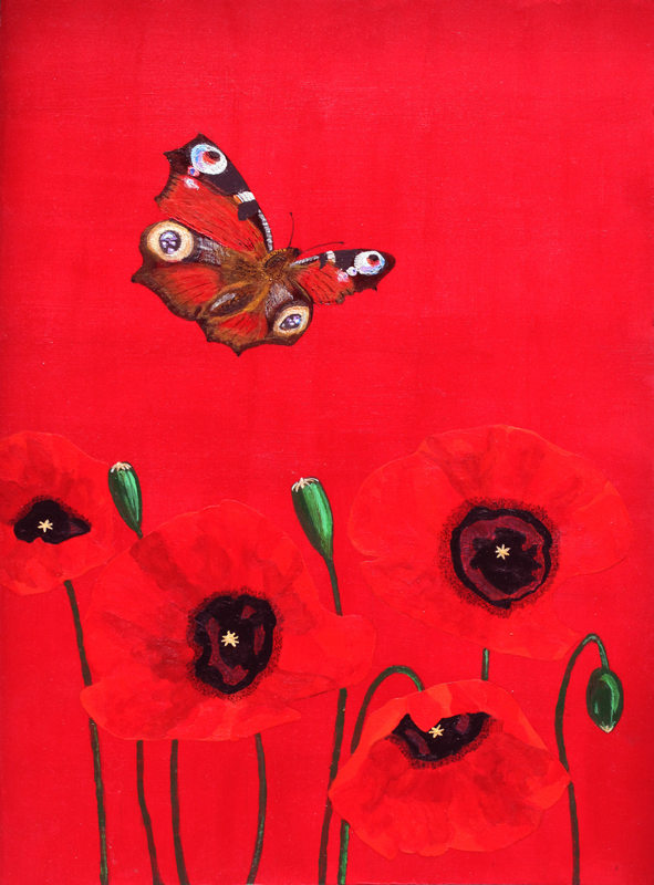 small flower paintings dave hall butterfly and flower paintings jesse waugh