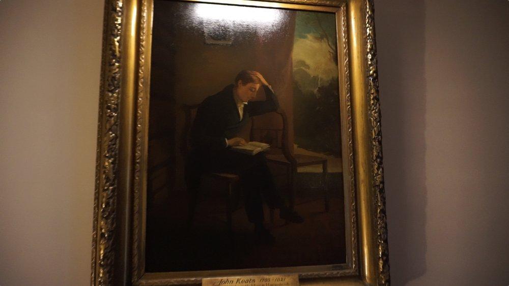 JOHN KEATS IN HIS STUDY BY JOSEPH SEVERN