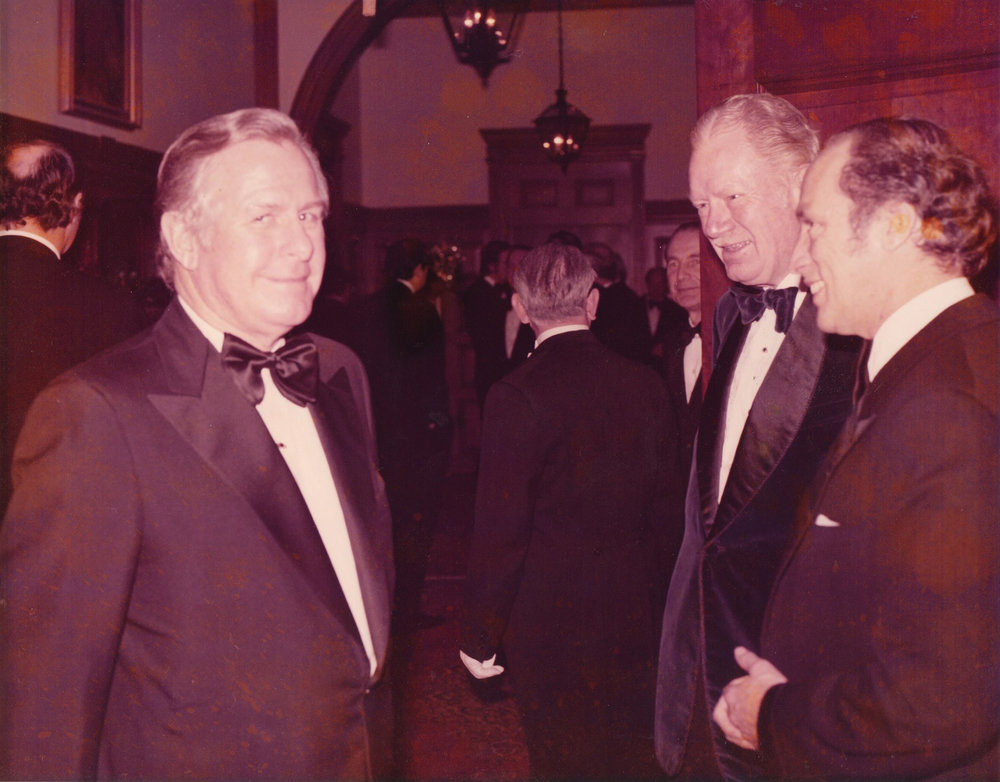 William Robert Waugh - Jesse's paternal grandfather - with Canadian Prime Minister Pierre Trudeau in the 1970s