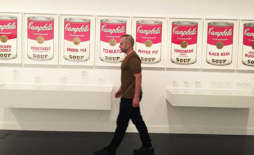 JESSE WAUGH - Warhol soup cans