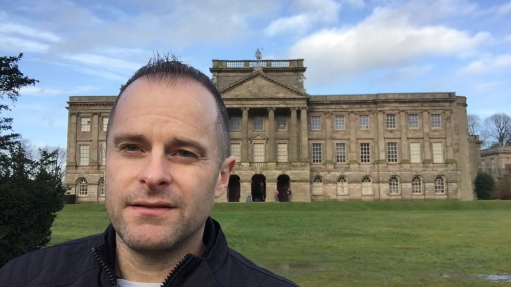 Jesse Waugh  at Lyme Park in Cheshire, UK