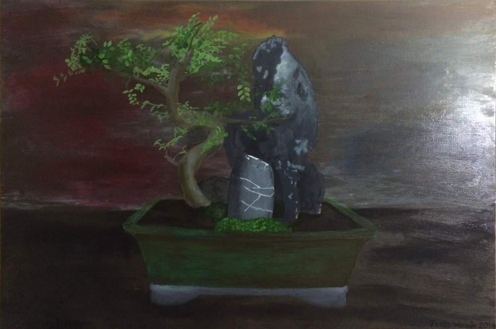 JESSE WAUGH   CENTER BONSAI   2014 OIL ON CANVAS