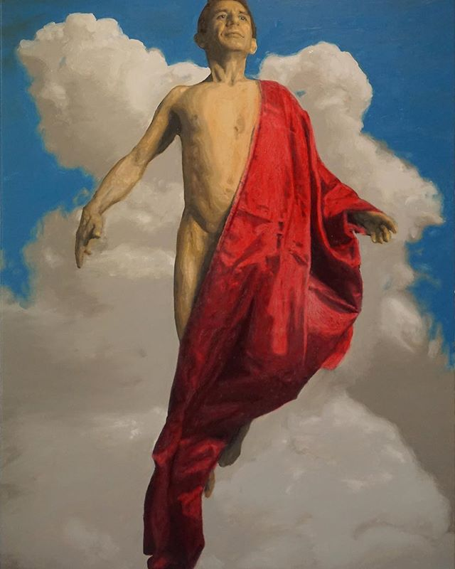 """Allegory of an Ascent"" Oil on canvas by Jesse Waugh (link in bio)"