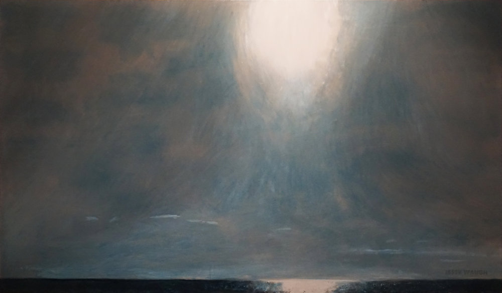 Jesse Waugh   Sun Over the Mediterranean from Balmins Beach   2017 Oil on canvas 195 X 114 cm