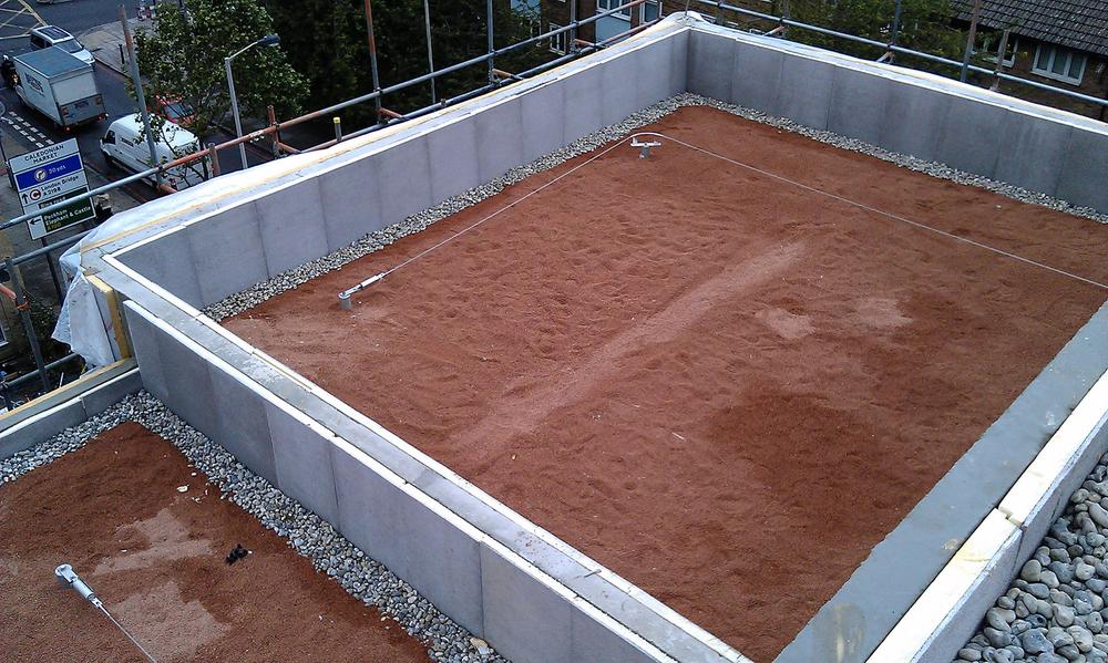 Bermondsey brown roof & mansafe,vertical insulation & shingle IMAG0634.jpg