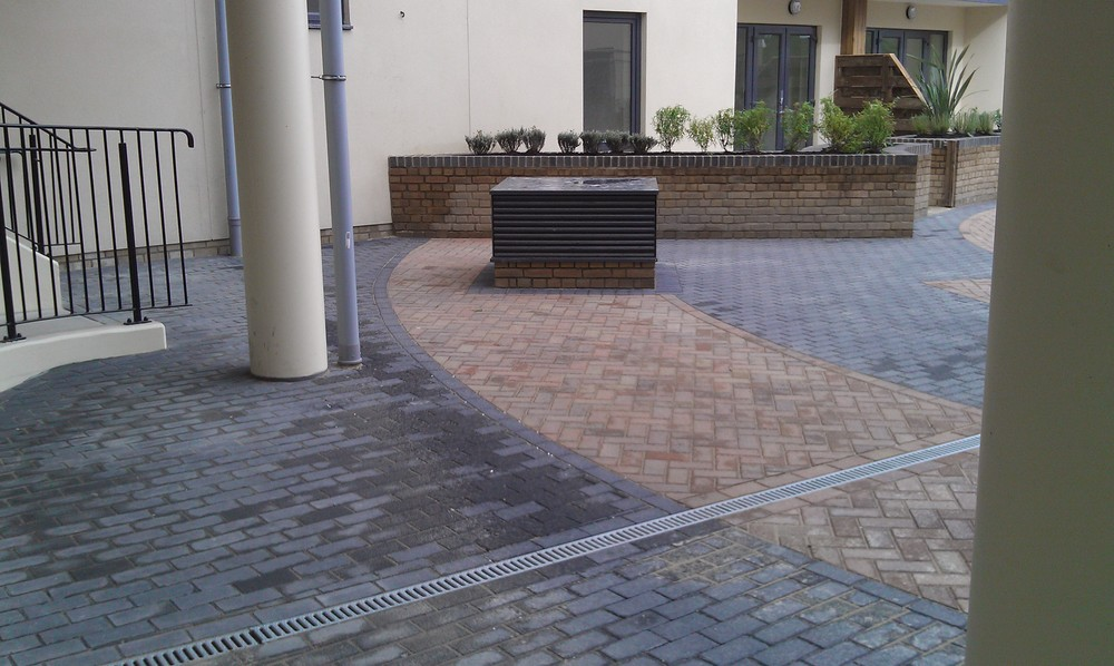 Podium after Capel did all hardscaping