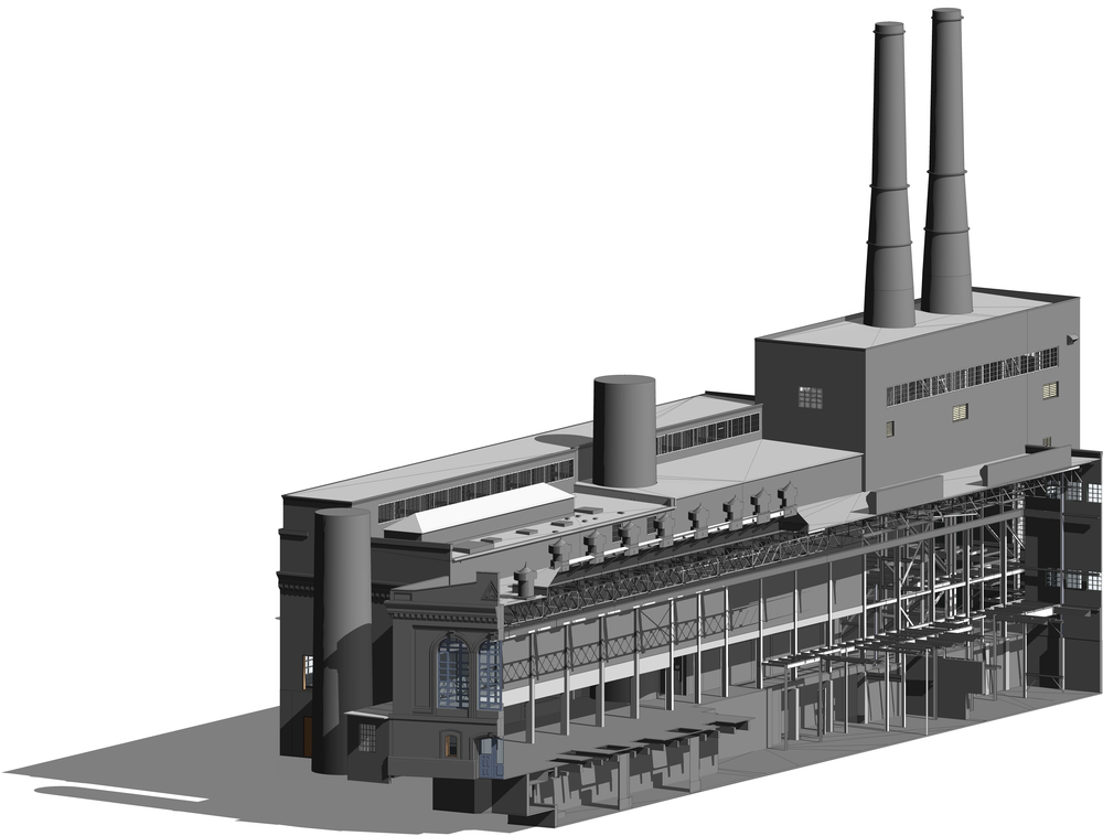 REVIT model, 3D section