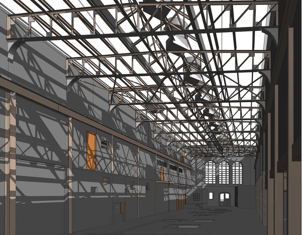 REVIT model, 3D interior