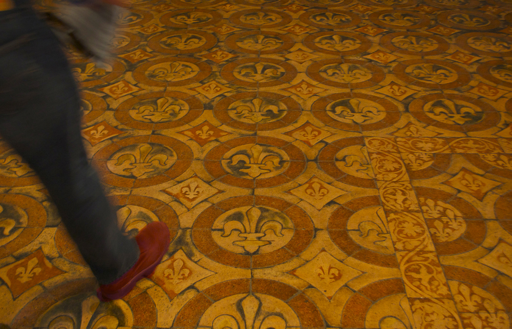 Château de Saumur tile floor
