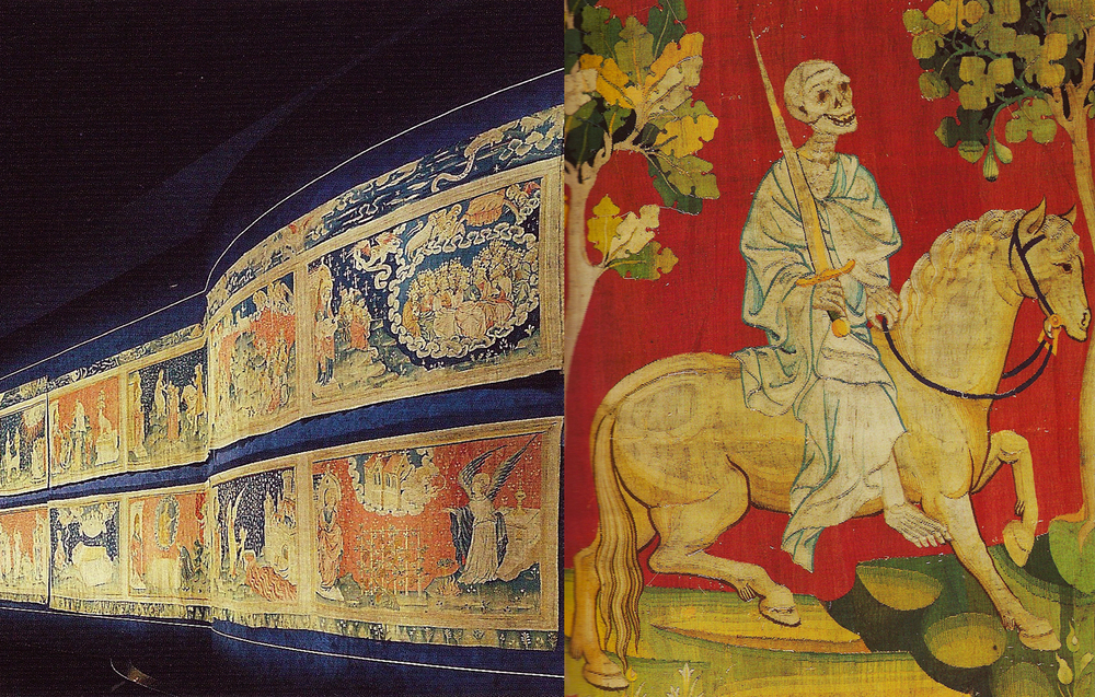 The Apocalypse Tapestry is displayed in two large rooms. Detail,  Death .