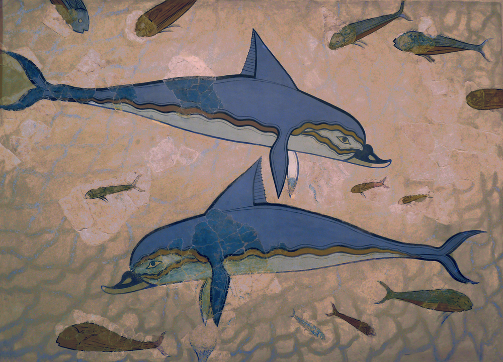 Famous dolphin mural found in Knossos