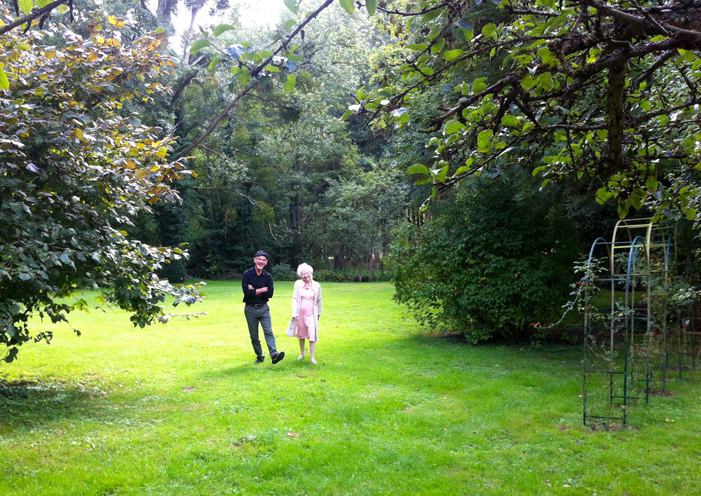Rick with our hostess Marie-Claire in her lovely garden