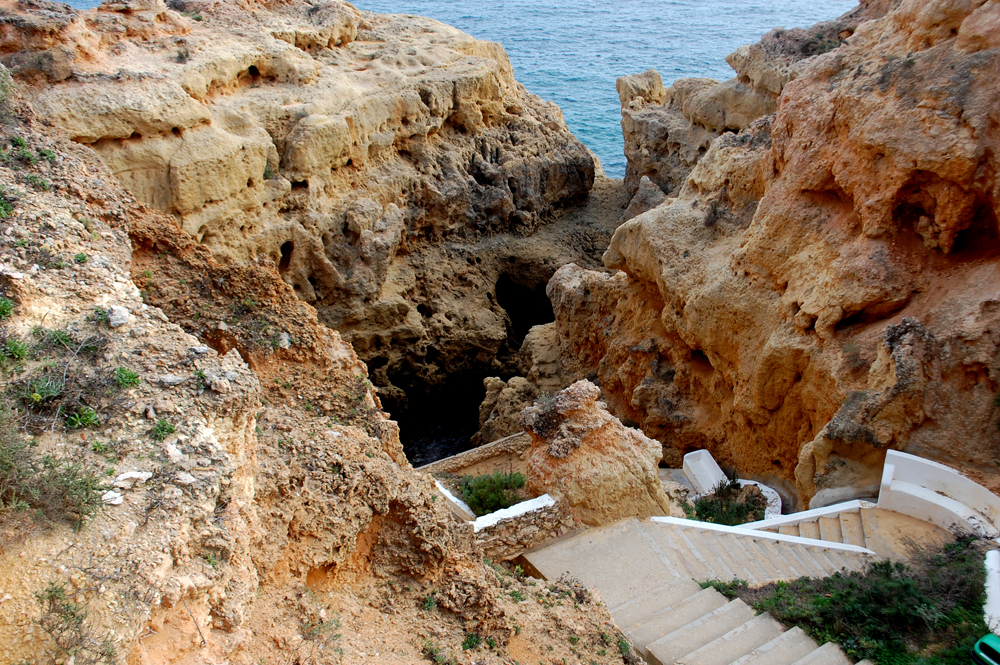 steps leading down to the cove