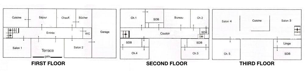 Floor plan: 350 sq meters (approximately 3700 sq feet)