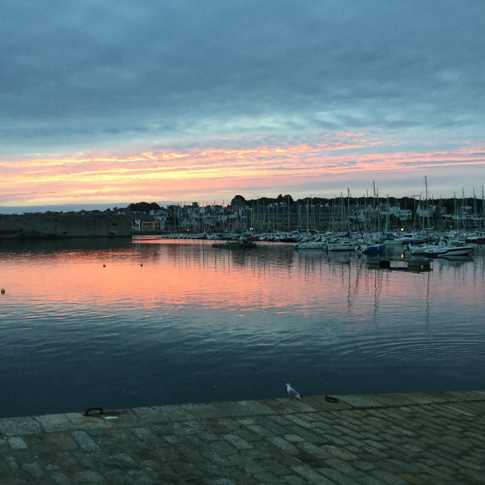 Dawn at Douarnenez port